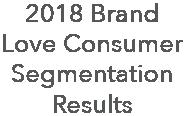 2018 brand love consumer segmentation results