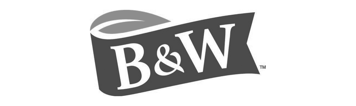 The corporate logo for Foodmix's client B&W Quality Growers, the world's largest grower of distinctive baby leaves.